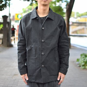 【40% OFF SALE】 CASEY CASEY(ケーシーケーシー)/WAX VESTE HIGA JACKET-BLACK- #11HV169