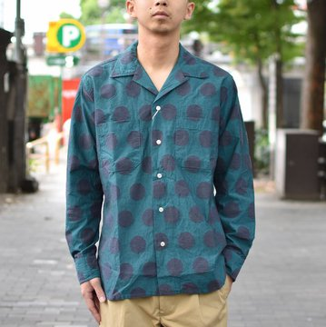 【40% OFF SALE】 MOJITO(モヒート)/ ABSHINTH SHIRT Bar.2.0 -(75)BLUE- #2085-1104