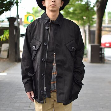【30% OFF SALE】 MONITALY(モニタリー)/ MILITARY HALF COAT TYPE-B -VANCLOTH SATEEN BLACK- #M24003