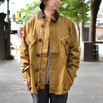 【30% OFF SALE】 MONITALY(モニタリー)/ MILITARY HALF COAT TYPE-B -VANCLOTH SATEEN KHAKI- #M24003