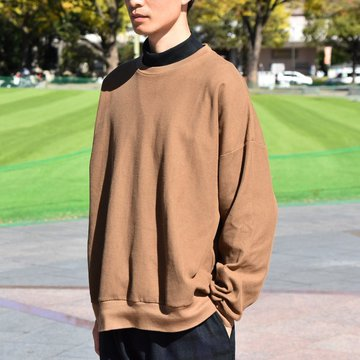 【30% OFF SALE】 blurhms(ブラームス) / Rough & Smooth Thermal Loose Fit Crew-neck L/S   -COYOTE-  BHS-RKAW18004