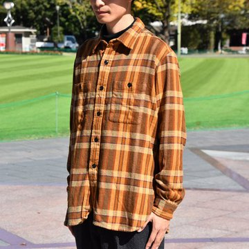 【2018 AW】South2 West8(サウスツーウエストエイト) Work Shirt  [Cotton Twill / Plaid ] -BROWN-  #DI846