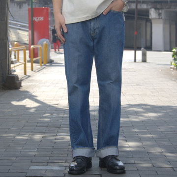 【19 SS】 AURALEE(オーラリー)/ WASHED HARD TWIST DENIM 5P PANTS #LIGHT INDIGO  APSP03DM