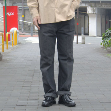 【19 SS】 AURALEE(オーラリー)/ WASH HARD TWIST DENIM 5P PANTS-BLACK #A9SP03DM