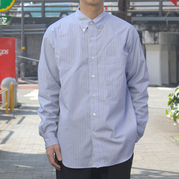 【19 SS】Graphpaper(グラフペーパー) THOMAS MASON L/S B.D BOX SHIRT -GRAY ST- #GM191-50033B