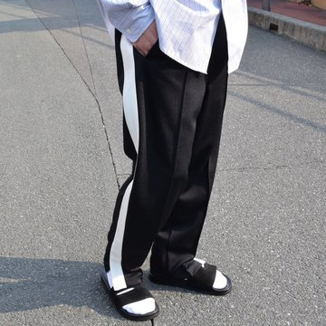 Graphpaper(グラフペーパー) Jersey Track Pants -BLACK- #GM191-40017