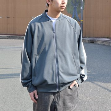 Graphpaper(グラフペーパー) Jersey Track Blouson -GRAY- #GU191-30042