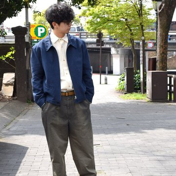 【30% off sale 】FRANK LEDER(フランクリーダー) COTTON SPADE JACKET -(39)NAVY- #0612009-39