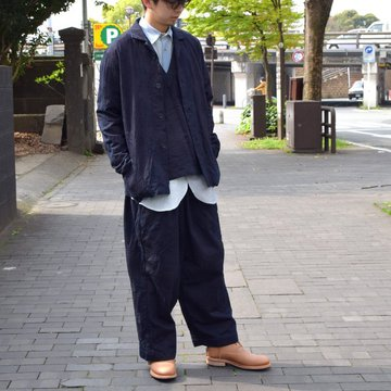 【2019 SS】 FRANK LEDER(フランクリーダー) INDIGO DYED COTTON JACKET -(39)INDIGO- #0612026-39