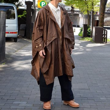 【2019 SS】 too good(トゥーグッド) / THE MESSENGER CAPE WAXED COTTON LW -CLAY-
