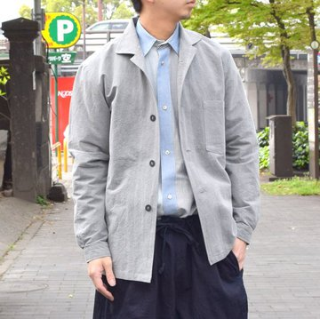 【30% off sale 】FRANK LEDER(フランクリーダー) /CHARCOAL DYED FLAX JACKET#0612052-93