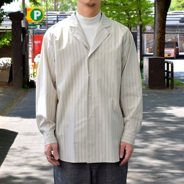 【30% off sale 】un unbient /TAILORED COLLAR SHIRT -WHITE STRIPE-#UNSSH1919-1