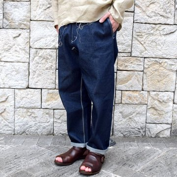 【30% off sale 】 CAMIEL FORTGENS(カミエル フォートゲンス)/ EASY PANTS -DARK DENIM-