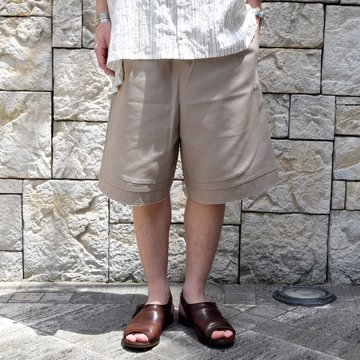 【30% off sale 】 CAMIEL FORTGENS(カミエル フォートゲンス)/ FOOTBALL SHORT -SAND-