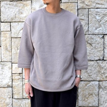 【2019 SS】crepuscule(クレプスキュール) Round Knit 7分袖 -GRAYBEIGE- #1901-005