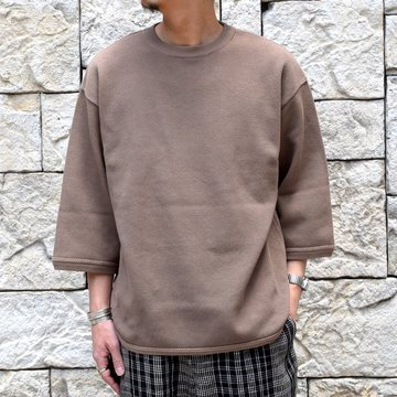 【2019 SS】crepuscule(クレプスキュール) Round Knit 7分袖 -BROWN- #1901-005