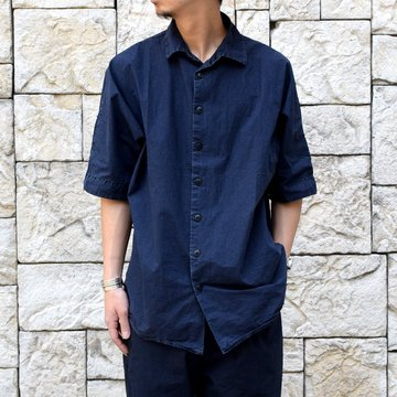 【2019 SS】 CASEY CASEY(ケーシーケーシー)/WAGA SHIRT-Dark Navy- #12HC122