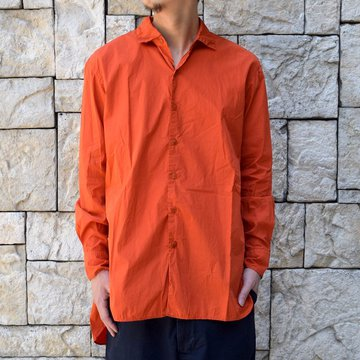 【2019 SS】 CASEY CASEY(ケーシーケーシー)/BIG BIG ANCIENNE SHIRT -ORANGE- #12HC125