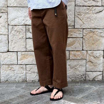 【2019 SS】【2019 SS】YAECA (ヤエカ)/ COTTON TWILL PANTS WIDE -BROWN-#19602BRW