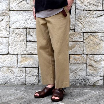 【2019 SS】YAECA (ヤエカ)/ COTTON TWILL PANTS WIDE -KHAKI-#19602KHK