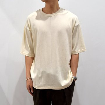 【2019 SS】 MARKAWARE(マーカウェア)/ ONESIDE RAGLAN TEE -RAW WHITE-#A19A-07CS01B
