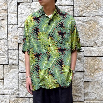 【2019 SS】 MYTHINKS(マイシンクス)/MY HAWAFORNIA SHIRT -GREEN-