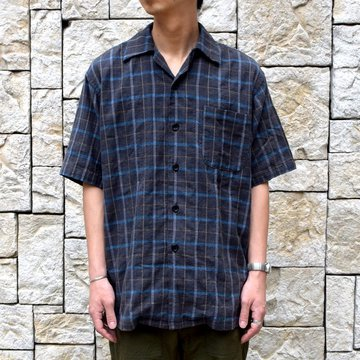 【2019 SS】 MYTHINKS(マイシンクス)/MY OPEN CHECK SHIRT -GRAY-#MYCHECK-SH