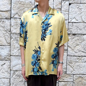 【30% off sale 】 MARKAWARE(マーカウェア)/ OPEN COLLAR SHIRTS S/S -BEIGE-#A19A-21SH02B