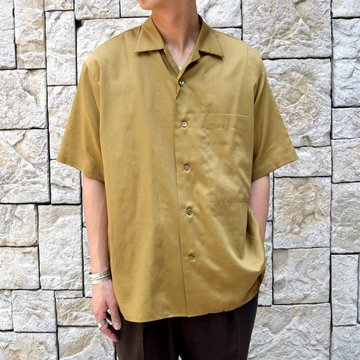 【30% off sale 】MARKAWARE(マーカウェア)/ OPEN COLLAR SHIRTS S/S -KHAKI-#A19A-28SH02B