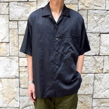 【30% off sale 】 MARKAWARE(マーカウェア)/ OPEN COLLAR SHIRTS S/S -CHARCOAL-#A19A-28SH02B