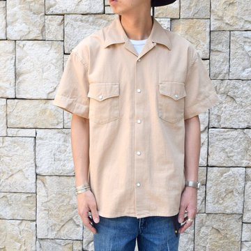 【30% off sale 】WESTOVERALLS( ウエストオーバーオールズ )  DENIM S/S SHIRTS 19SWSH01-BE