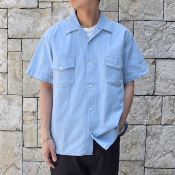 【30% off sale 】WESTOVERALLS( ウエストオーバーオールズ )  DENIM S/S SHIRTS 19SWSH01-SA