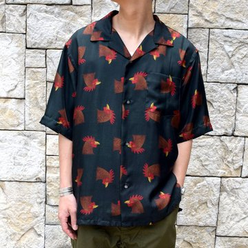 【2019 SS】blurhms(ブラームス) / SILK OPEN COLLAR PATTERN S/S -CHICKEN- #BHS-19SS023PTN