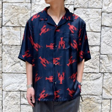 【2019 SS】blurhms(ブラームス) / SILK OPEN COLLAR PATTERN S/S -LOBSTER- #BHS-19SS023PTN
