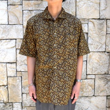 【30% off sale 】KAPTAIN SUNSHINE (キャプテンサンシャイン)/ Italian Collar Summer Shirt -DARK OLIVE-#KS9SSH09