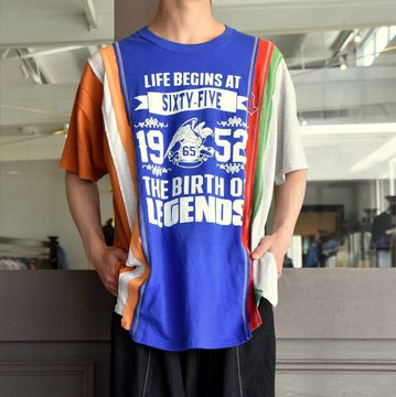 REBUILD BY NEEDLES  (リビルドバイニードルス) 7 cut wide tee-college- blue EJ291