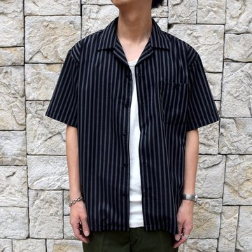 【2019 SS】BROWN by 2-tacs (ブラウンバイツータックス)  OPEN COLLAR SHIRTS-BLACK- #B21-S002