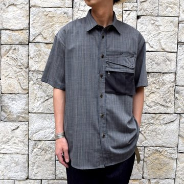 【2019 SS】BROWN by 2-tacs (ブラウンバイツータックス) TRAVELER SHIRTS-GRAY- #B21-S003