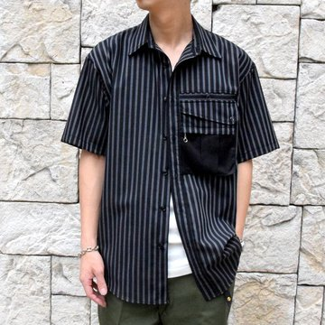 【2019 SS】BROWN by 2-tacs (ブラウンバイツータックス) TRAVELER SHIRTS-BLACK- #B21-S003