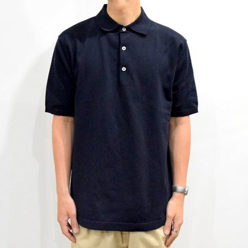 ANDERSEN-ANDERSEN(アンデルセン アンデルセン) /POLO SHORT-NAVY BLUE-#AA1911003