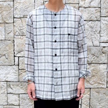 whowhat(フーワット)/CREW NECK SHIRT -WHITE CHECK-