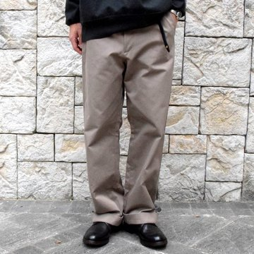 【2019 AW】 AURALEE(オーラリー)/ WASHED FINX CHINO PANTS-GRAY BEIGE- #A9AP01CN