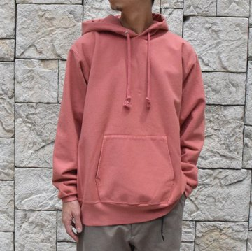【2019 AW】  AURALEE(オーラリー)SUPER MILLED SWEAT P/O PARKA -PINK RED- A9AP01SM-PI