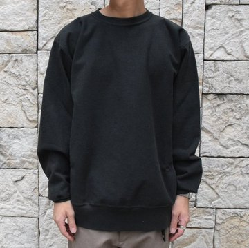 【2019 AW】 AURALEE(オーラリー)/ SUPER MILLED SWEAT P/O-BLACK- A9AP02SM-BK
