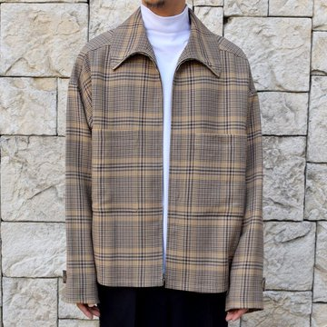 【2019 AW】 AURALEE(オーラリー)/ WOOL SERGE CHECK ZIP-UP BLOUSON-