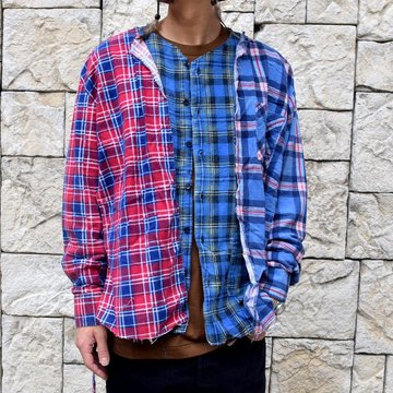 【2019 AW】OLD PARK(オールドパーク)/LAYERED SHIRT PAJAMA OP-322