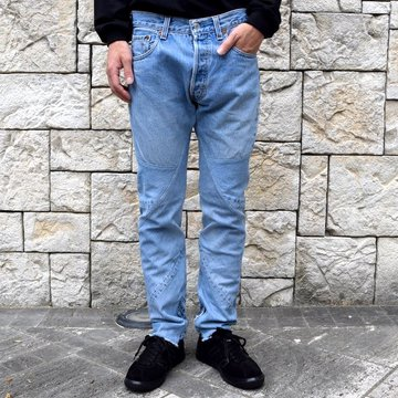 OLD PARK / SHIFT JEANS -BLUE- #OP-344