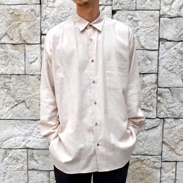 【2019 AW 】 MARKAWARE(マーカウェア)/ ORGANIC COTTON OXFORD COMFORT FIT SHIRTS-NATURAL BROWN- #A19C-08SH01C