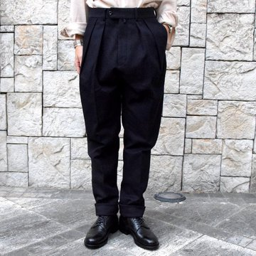 【2019 AW 】 MARKAWARE(マーカウェア)/CLASSIC FIT TROUSERS -NAVY- #A19C-06PT02C