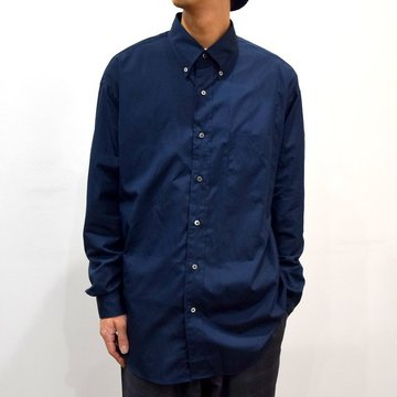 【19 AW】Graphpaper(グラフペーパー) THOMAS MASON L/S B.D BOX SHIRT -B NAVY- #GM193-50060B